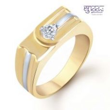 Buy Sukkhi Gold And Rhodium Plated Solitaire Cz Ring For Men ( 131grk590) from Rediff