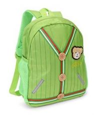 Flat 40% off on School Bag Teddy Patch Green - 12 inches