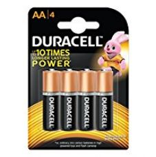 Duracell Alkaline AA Battery with Duralock Technology - 4 Pieces for Rs. 145