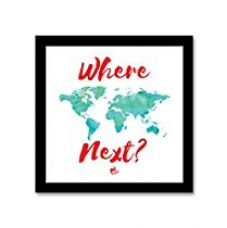 Buy Where next ? Travel Black Square Frame from Amazon