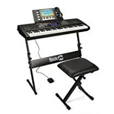 RockJam RJ761 61 Keys Electronic Interactive Teaching Piano Keyboard with Stand, Stool, Sustain pedal & Headphones for Rs. 8,011