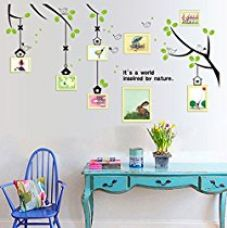 Buy CORTINA NATURE THEME VINYL WALL STICKERS MULTI COLOR from Amazon