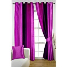 HOMEC Trendy TieDye Printed Curtain Set of 2 (Size - Window 46 X 60 inch/Color - Purple) for Rs. 599