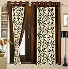 Buy Cortina New Patch Set Of 2 Door Curtain (2PC) from Amazon