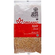 Buy Pure & Sure Organic Toor Dal, 500g from Amazon