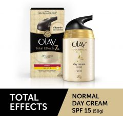 Buy Olay olay total effects 7 in one anti-ageing cream normal day spf 15  (50 g) from Flipkart