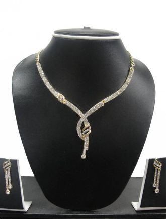 Buy Zaveri Pearls Alloy Jewel Set  (Gold) from Flipkart