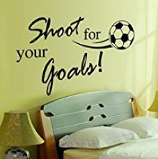 Buy Decals Design 'Quote Sports Football Shoot for your Goals' Wall Sticker (PVC Vinyl, 60 cm x 45 cm x 1 cm, Black) from Amazon