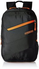 Buy American Tourister Polyester 27 Ltrs Black Laptop Backpack (AMT BOP2017 LAPTOP BKPK5-BLACK) from Amazon