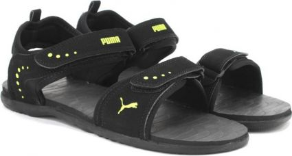 Get 53% off on Puma Men Black-Limepunch Sports Sandals
