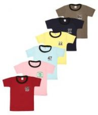 Buy SR Kids Multicolor T-Shirt - Pack of 6 from SnapDeal