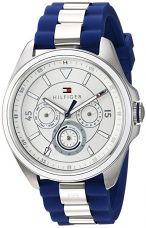 Buy Tommy Hilfiger Women's 'SOPHISTICATED SPORT' Quartz Stainless Steel and Silicone Casual Watch, Color:Blue (Model: 1781771) from Amazon