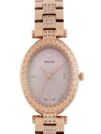 Get 20% off on Swiss Eagle Women Pearly Brown Analogue Watch SE-9094B-RG-08