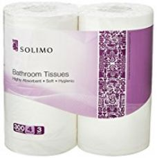 Buy Solimo 3 Ply Bathroom Tissue Toilet Paper Roll - 4 Rolls (160 gm/roll) from Amazon
