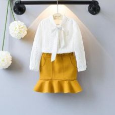 Cute Lace Top And Yellow Skirt for Rs. 949