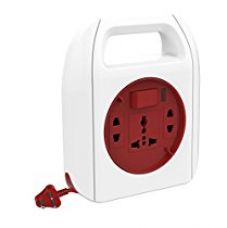 GOLDMEDAL Sliq 3 Pin Extension Cord (With International Sockets, Master Switch, Handle and 4m Power Cord) (Multi-Color) for Rs. 355