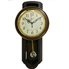 Buy Rikon Wooden Finished Plastic Pendulum Wall Clock 57.5 cm X 28.5 cm (Red) from Amazon