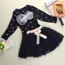 Buy Adorable Navy Full Sleeve Top And Skirt Set from Hopscotch