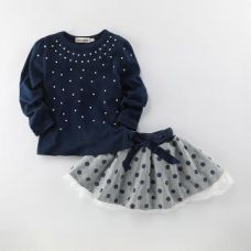 Buy Stylish Full Sleeve Top And Skirt Set from Hopscotch