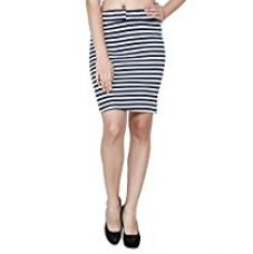 My Swag Women's Mini Black Stripped Pencil Skirt for Rs. 379