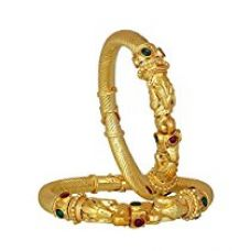 Buy YouBella Traditional Jewellery Gold Plated Bangles Jewellery for Women and Girls (ADJUSTABLE) from Amazon