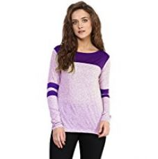 Miss Chase Women's Basic Top (MCSS16TP06-40_Purple_XS) for Rs. 599