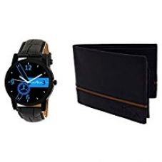 Buy XPRA Analogue Watch & Leather Wallet Combo For-Men & Boys-WCH-WL-15 from Amazon