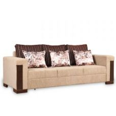 Buy Amazon Royale Fab Three Seater Sofa Beige for Rs. 32,900