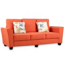 Buy Rogers Fabric Three Seater Sofa Rust for Rs. 32,900