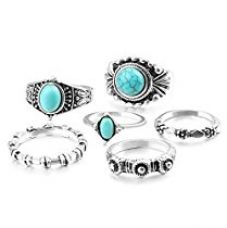 Buy Shining Diva Fashion Antique Silver Set of 6 Midi Finger Rings for Women and Girls from Amazon