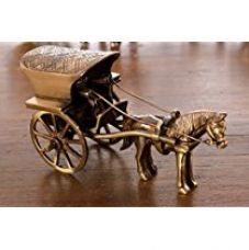 Buy eCraftIndia Antique Finish Horse Carriage Brass Showpiece (13 cm x 6 cm x 8, Brown and Golden) from Amazon