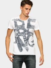 Being Human Men White Printed Regular Fit T-shirt for Rs. 1,199