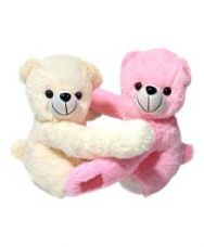 Flat 55% off on Ultra Cute Soft Toy Hugging Teddies 11 Inches - Pink &...