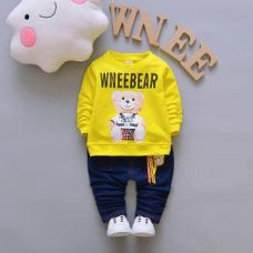 WneeBear Print Yellow T-Shirt and Jeans Set for Rs. 719