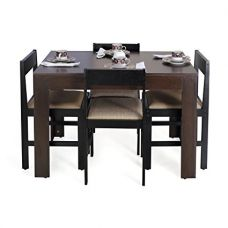 Buy Forzza Peter Four Seater Rectangular Dining Table Set (Wenge) from Amazon