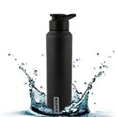 Zafos Stainless Steel Sports Sipper Water Bottle - Ideal to store water & other beverages for Gym,Sports & School Better Than Milton,Sizzle & Cello,Matt Black,1000ml..(Not Hot & Cold) for Rs. 499