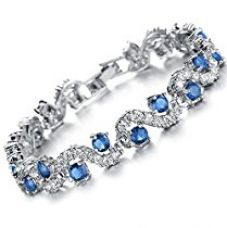 Yutii Skyblue Sterling-Silver Cuff & Kadaa Bracelet for Women, Imitation Jewellery Online for Rs. 699
