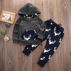 Buy Funky Grey T-Shirt And Pant Set from Hopscotch