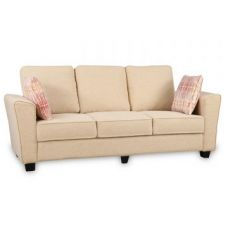 Buy Rogers Fabric Three Seater Sofa Beige for Rs. 32,900