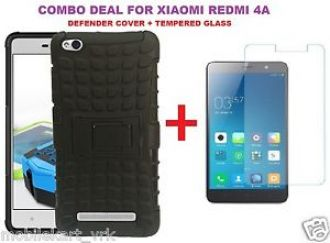 buy popular 3f400 1cfb7 Buy Combo For Xiaomi Redmi 4A Kickstand Hybrid Armor Back Case Cover ...