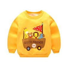 Yellow Animal Print Full Sleeves Sweatshirts for Rs. 409