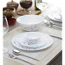 LaOpala Diva Dazzle Dinner Set, 19-Pieces, White and Purple for Rs. 2,050