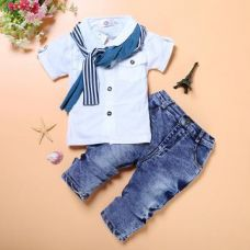 Buy Trendy Half Sleeve Shirt And Jeans Set from Hopscotch