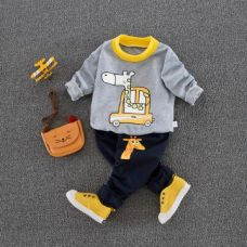 Lovely Gray Sweatshirt And Pant Set for Rs. 539