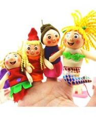Buy Kuhu Creations Wooden Finger Puppets - Set of 4 for Rs. 404