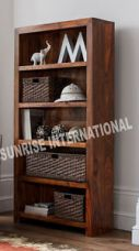 Mandira Range - Wood Wooden Book Shelves / Bookcase / Display Shelf Cabinet Rack for Rs. 12,883