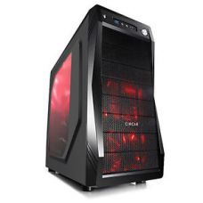 Circle Gaming Cabinet CC-821 Black With Transparent Side Panel & 3 LED Fans for Rs. 3,240