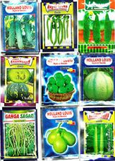 Holland Brand Hybrid 9 Different Variety Vegetable Seeds For Kitchen Garden for Rs. 278