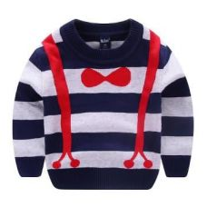 Buy Stripes Print Navy Sweatshirt from Hopscotch