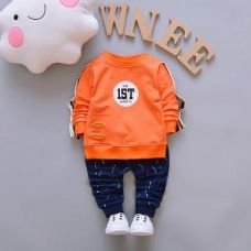 Buy No. 1st Print Orange T-Shirt and Pant Set from Hopscotch